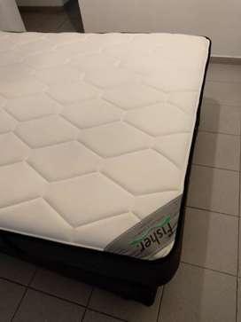 Sommier + colchón de dos plazas marca Fisher (190x140)