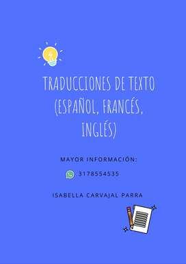 Traducciones de Texto