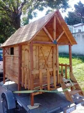 Vendo casitas de madera de juego para niños... EXCELENTES PRECIOS!!!