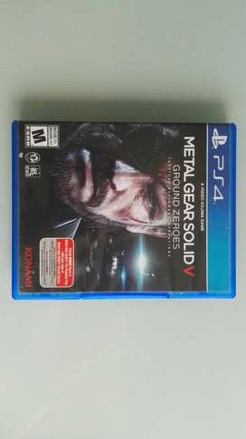 Metal Gear Solid V - Ground Zeroes. Juego PS4.