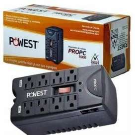 Regulador Powest PRO PC 1000VA 8 TOMAS
