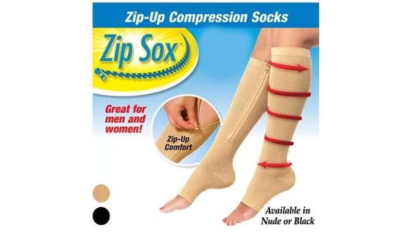 Medias De Compresión Anti Varice Con Cremallera Zip Sox 0