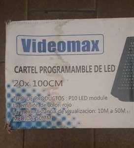 Cartel Programable Led 20x100