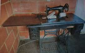 máquina de coser singer antigua funcional