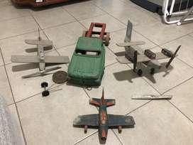 Maquetas de aviones a restaurar