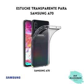 Estuche Para Samsung A70 Transparente Rígido