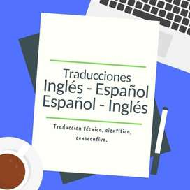 Traducción de Documentos (traductor certificado) inglés-español y español-inglés