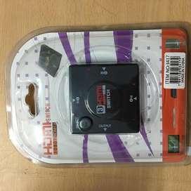 Switch Hdmi Derivador 3 Entradas 1 Salida Full Hd 1080p