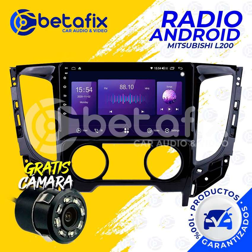RADIO ANDROID MITSUBISHI L200 GPS BT USB WIFI BETAFIX