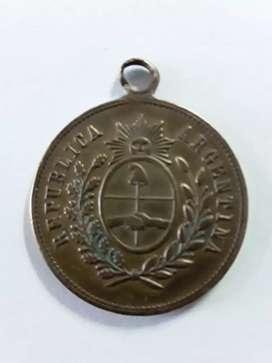 Medalla antigua de cobre conmemorativa centenario de la Republica Argentina