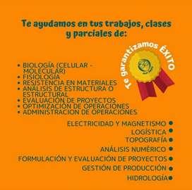 Asesoramos trabajos de macroeconomia, microeconomia, quimica, finanzas, estatica, ensayos, tesis, trabajo de grado.