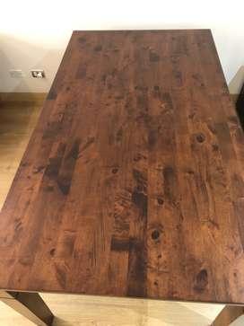 Mesa de madera marrón (como nueva) 170x95 cm