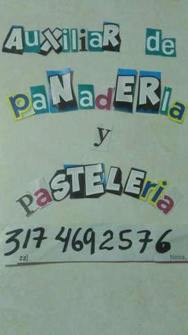 Auxiliar panaderia y pasteleria y pizzeria.