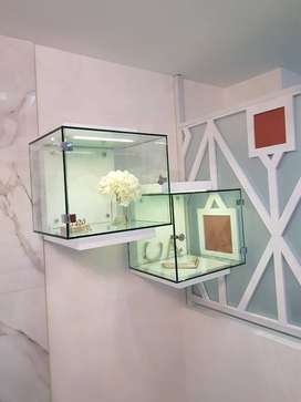 Vitrinas tipo cubos exhibidores