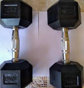 Mancuernas exagonales par 20 kilos