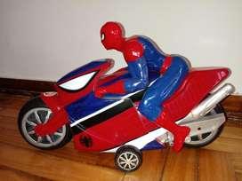 Hombre Araña Moto con Personaje Incluido