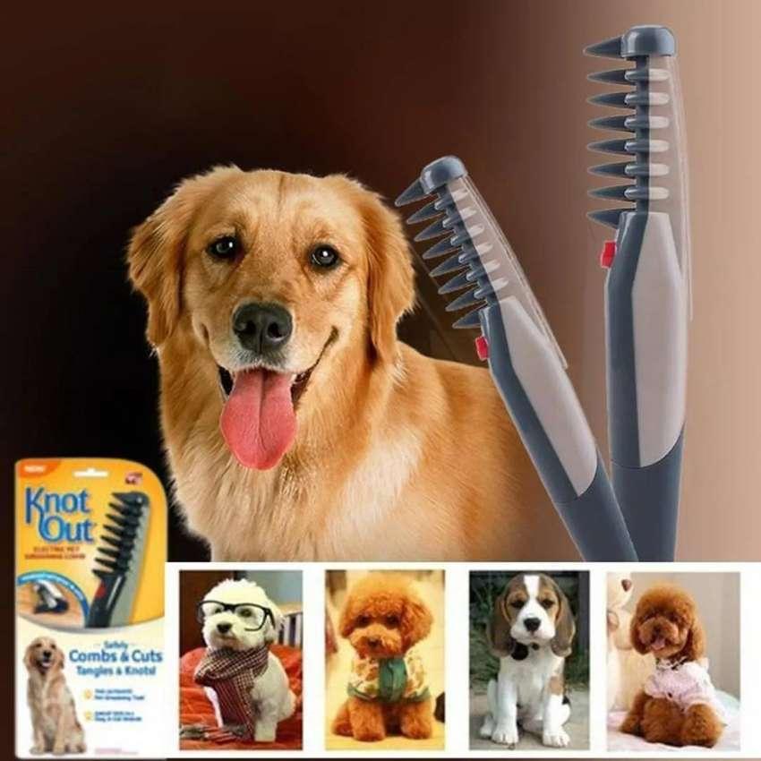 Cepillo Electrico Para Mascota Desenrreda Y Peina Knot Out 0