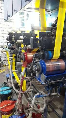 Maquina rotograbadora industrial