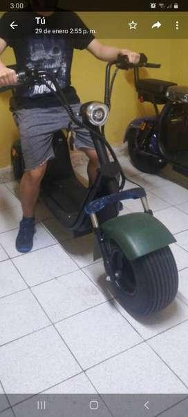 Moto electrica chopper 1500w bateria 60v 12ah
