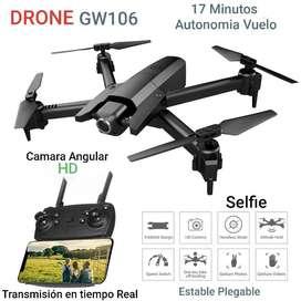 Drone Gw106 camara HD 17 minutos plegable estable sensores 2020