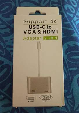 USB-C to VGA & HDMI