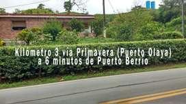 Parcela en Km 3 vía La Primavera (Puerto Olaya)  a 6 minutos de Puerto Berrío