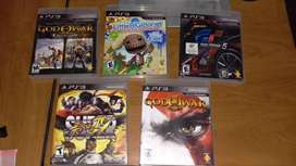Lote Juegos Ps3 GOW3, SSFIV, GT5, GOW1 HD, GOW2 HD y Little Big Planet