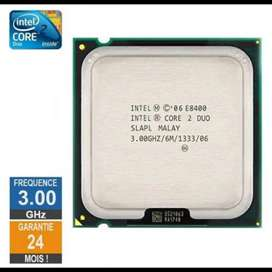 Procesador  Core 2 Duo E8400, 3.00GHz