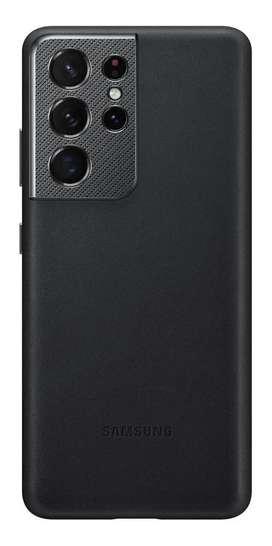 Case FUNDA Samsung LEATHER COVER Cuero Genuino @ Galaxy S21 Ultra NEGRO
