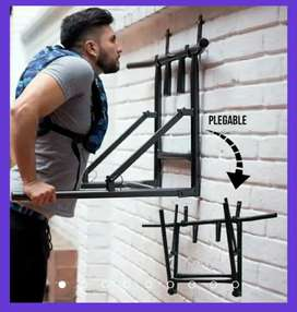 Barra de ejercicios plegable 3 en 1 acero