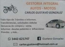 Gestoria Integral de Automotores y motovehiculos