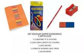 Set escolar económico