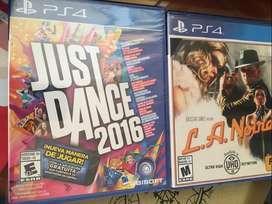 Just Dance 2016 Y L.A. Noire Ps4 Nuevos