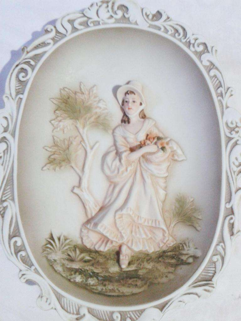 Porcelana Placa Pared x 2 0