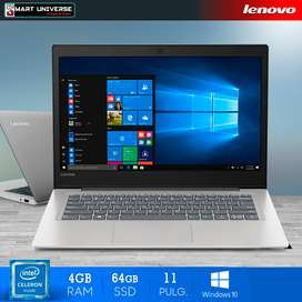 Laptop Lenovo 130s Celeron 11 Pulgadas 4GB RAM, SSD Window 10