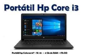 Portátil Hp Core i3 / 7ma Generación
