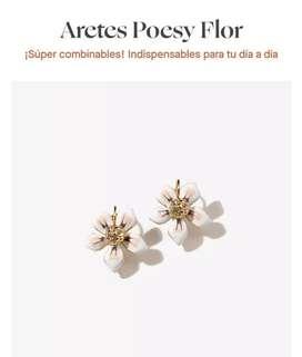 Aretes poesy flor