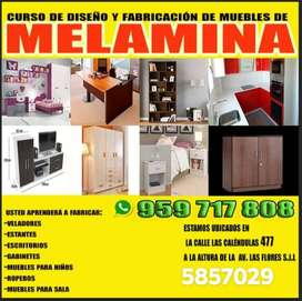 CURSO DE FABRICACION DE MUEBLES DE MELAMINA