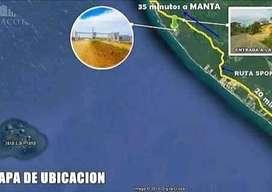 Venta de Terreno, Urbanización Privada frente al Mar cerca de Manta
