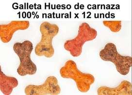 Galleta Carnaza Perro Hueso Juguete Canino 100% Natural