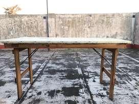 Mesa de pino plegable