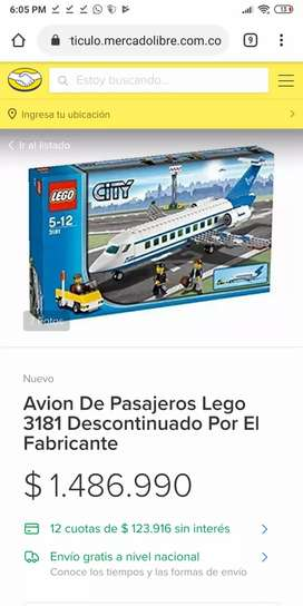 Lego City Avión de Pasajeros En Buen Estado
