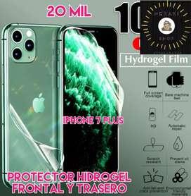 Protector hidrogel para iphone 7 plus frontal y trasero