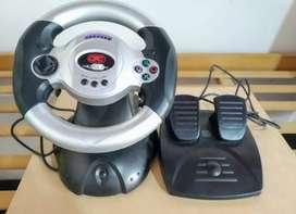 Volante para PC más pedales de Regalo