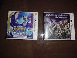 Vendo Pokemon Luna + Fire emblem Fates