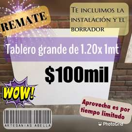 REMATE Tablero grande 1.20 x1mt