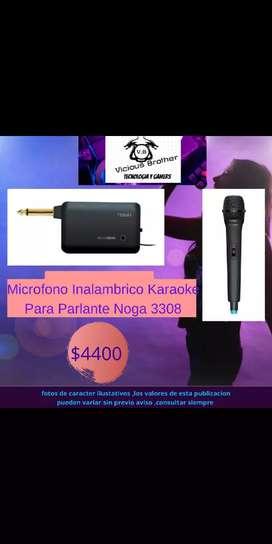 Micrófono Inalámbrico Karaoke Para Parlante Noga 3308