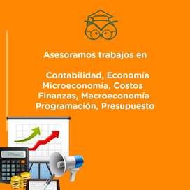 Asesoramos trabajos, tareas de contabilidad, presupuesto, finanzas, economía, microeconomía, ensayos, macroeconomia