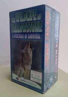 Cintas VHS , Vida Salvaje Yellowstone , Nuevas y Selladas