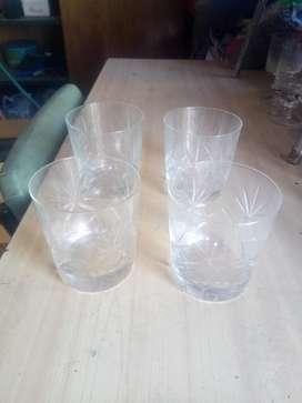 Vasos de Whisky de Cristal Tallados